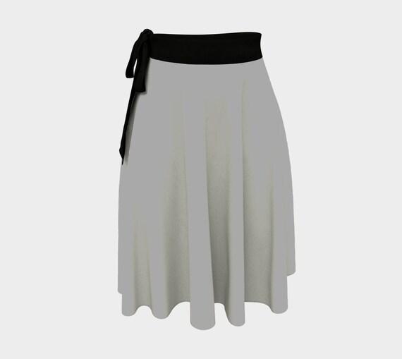 Dark Grey Wrap Skirt