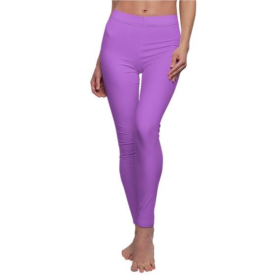 Women's Deep Lilac Skinny Casual Leggings
