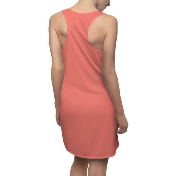 Coral Pink Racerback Dress
