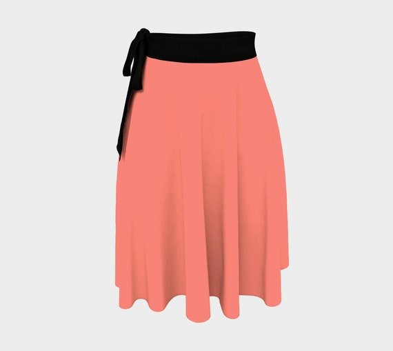 Coral Pink Wrap Skirt