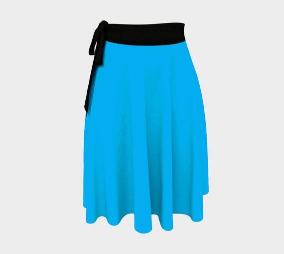Deep Sky Blue Wrapped Skirt