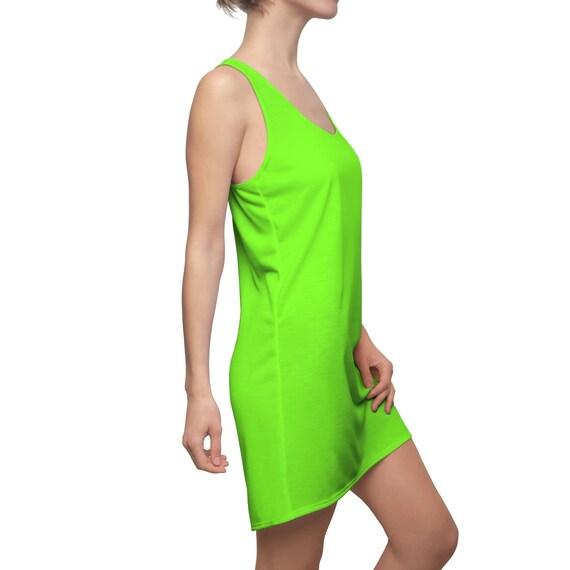 Chartreuse Racerback Dress