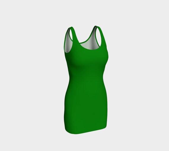 Plain Jane Green Bodycon Dress