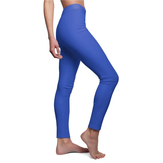Women's Cerulean blue Skinny Casual Leggings