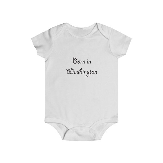 Born in Washington Infant Rip Snap Tee