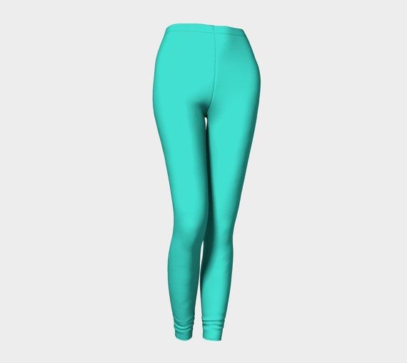 Bohemian Madwoman Turquoise Leggings