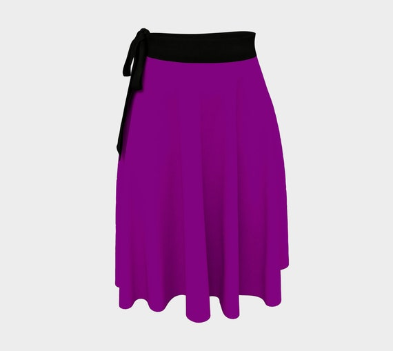 True Purple Wrap Skirt