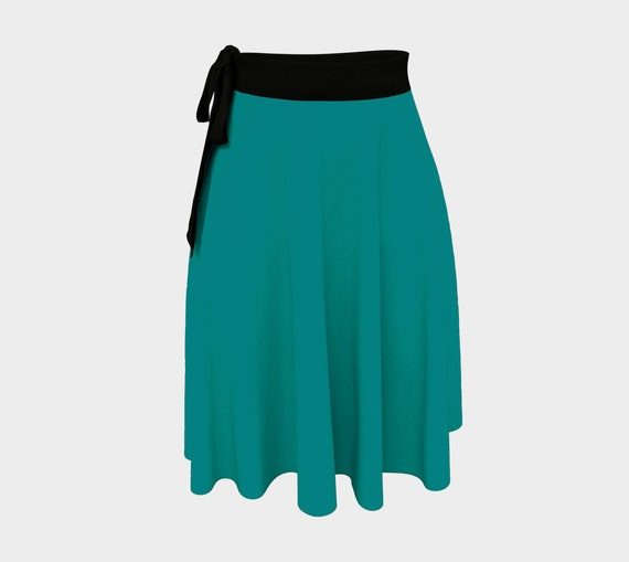 Teal Wrap Skirt