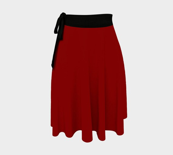 Maroon Wrap Skirt