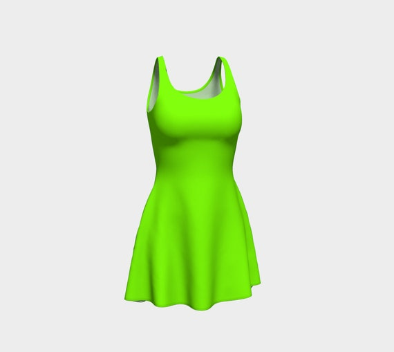 Chartreuse Flare Dress