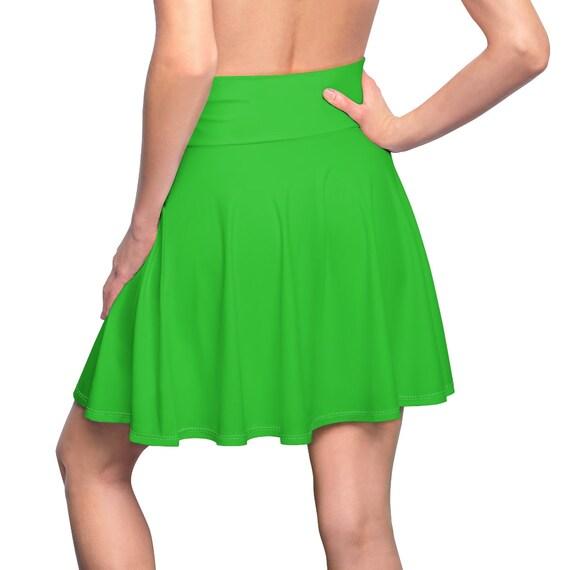 Women's Lime Skater Skirt
