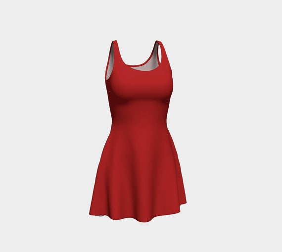 Christmas Red Flare Dress