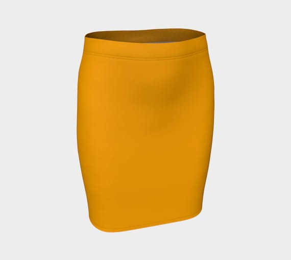 Fruity  Orange Fitted Skirt