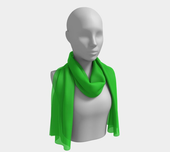 Lime Long Scarf