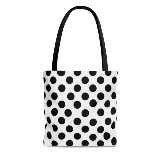 White with Black Polka Dots - Tote Bag