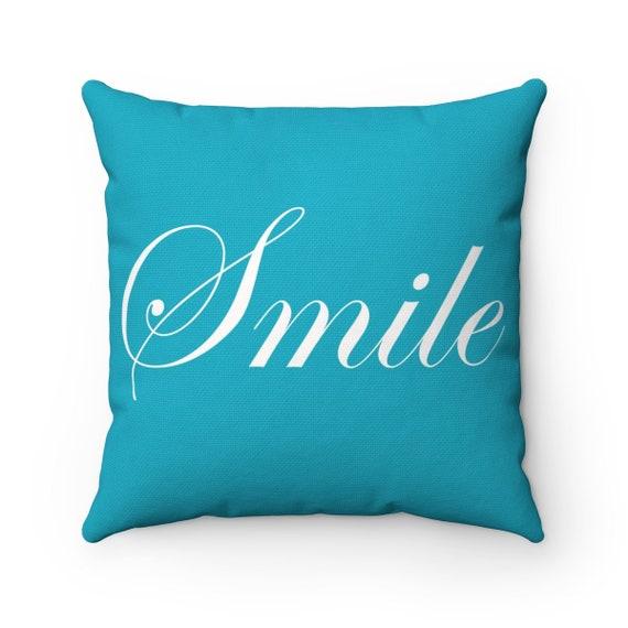 Smile Spun Polyester Square Pillow