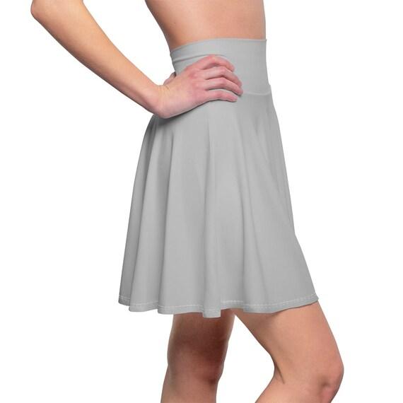 Women's Silver Skater Skirt