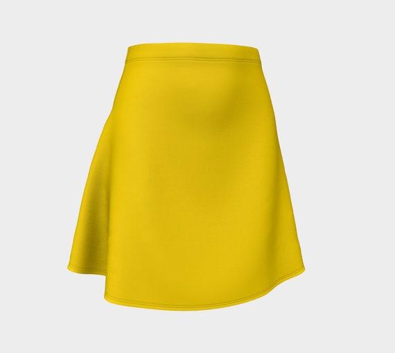 Gold Flare Skirt