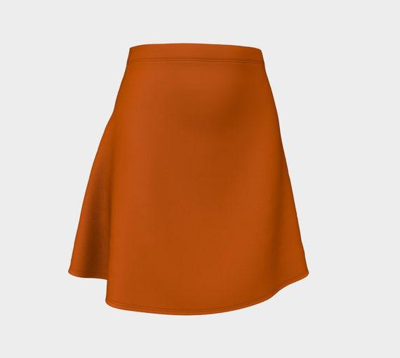 Burnt Orange Flare Skirt