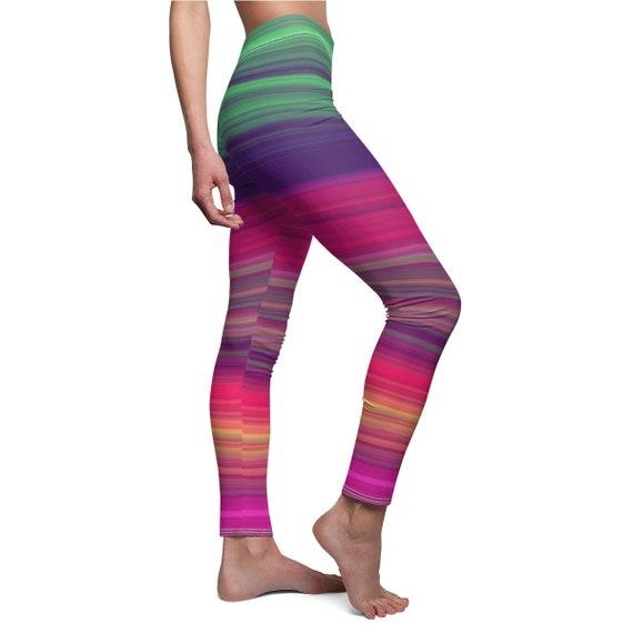 Women's Rainbow Skinny Casual Leggings