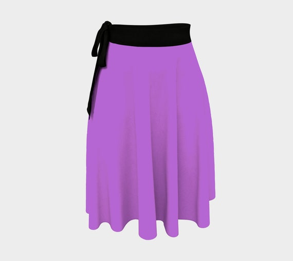 Deep Lilac Wrap Skirt