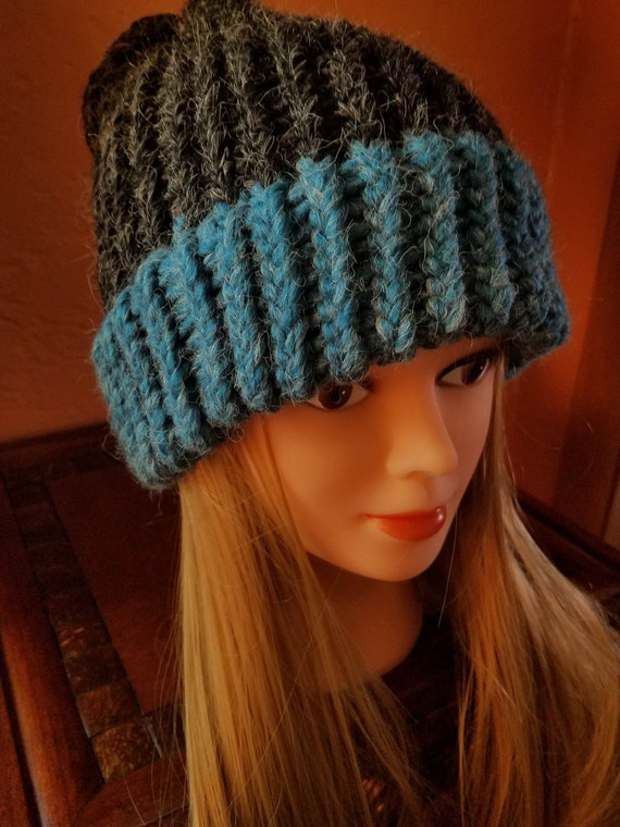 Double Brim Hobo Beanie Hats with 20% Alpaca!