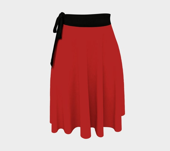 Christmas Red Wrap Skirt