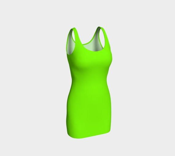 Chartreuse Bodycon Dress