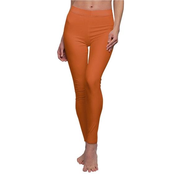 Women's Burnt Orange Skinny Casual Leggings