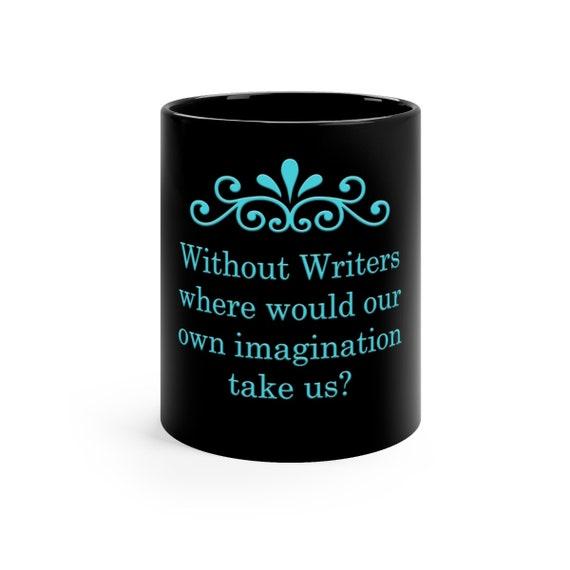 Writers Black mug 11oz