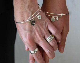 Mother Daughter Jewelry - Mother Daughter Bracelet - Mothers Day Gift - Mother of the Bride Gift - 925 Sterling Silver