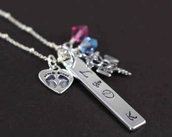 Labor and Delivery Nurse L&D NICU RN Necklace Graduation Gift Nursing School Jewelry 925 Sterling Silver