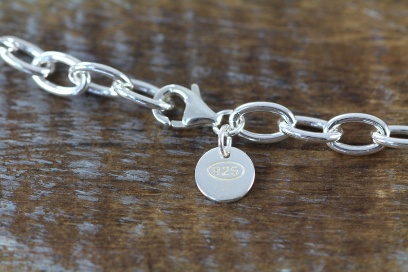 She Believed She Could Chain Link Charm Bracelet 925 Sterling Silver Engraved Jewelry Graduation Gift