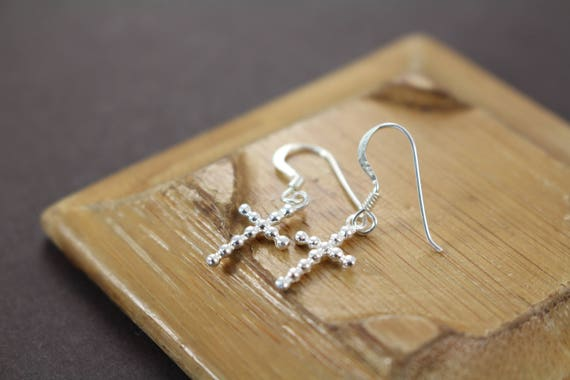 2019 Fashion 100/% 925 Sterling Silver Cross Earrings Young Girl Gifts Jewelry