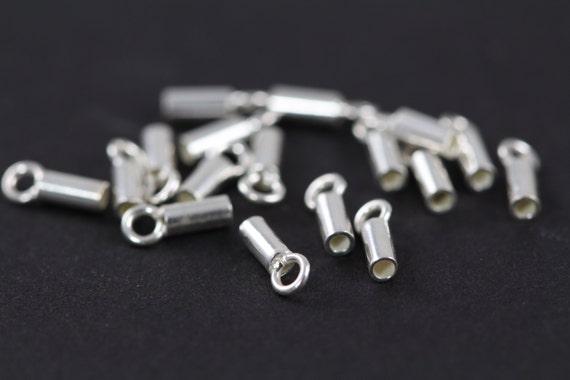 3 x 6 mm 1 paire de petits Argent Sterling 925 crimp extrémités