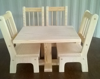 18 Inch Doll Table And Chairs Etsy