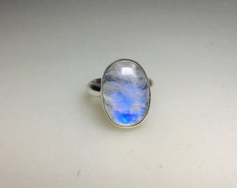 Hand-Fabricated Rocky Butte Jasper Cabochon Ring in Sterling Silver Size 7