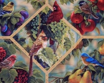 Birds Sanctuary Wall Hanging with matching  pillow