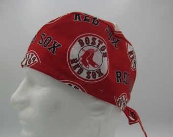9dcb83e3d Red Sox - Tie-back Surgical Scrub Hat