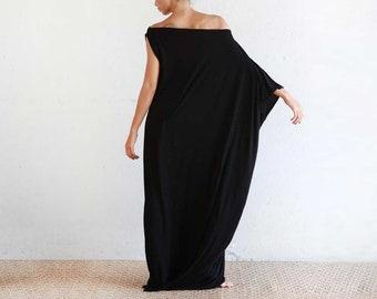 72e6ec2074cc Black Kaftan Dress - Beach Cover Up - Maxi Dress - Boho Dress - Black Long  Dress - Black Caftan - Caftan