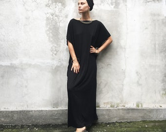 497da500f92bc Black Kaftan Dress - Beach Kaftan - Maxi Dress - Boho Dress - Black Long  Dress - Black Caftan - Caftan