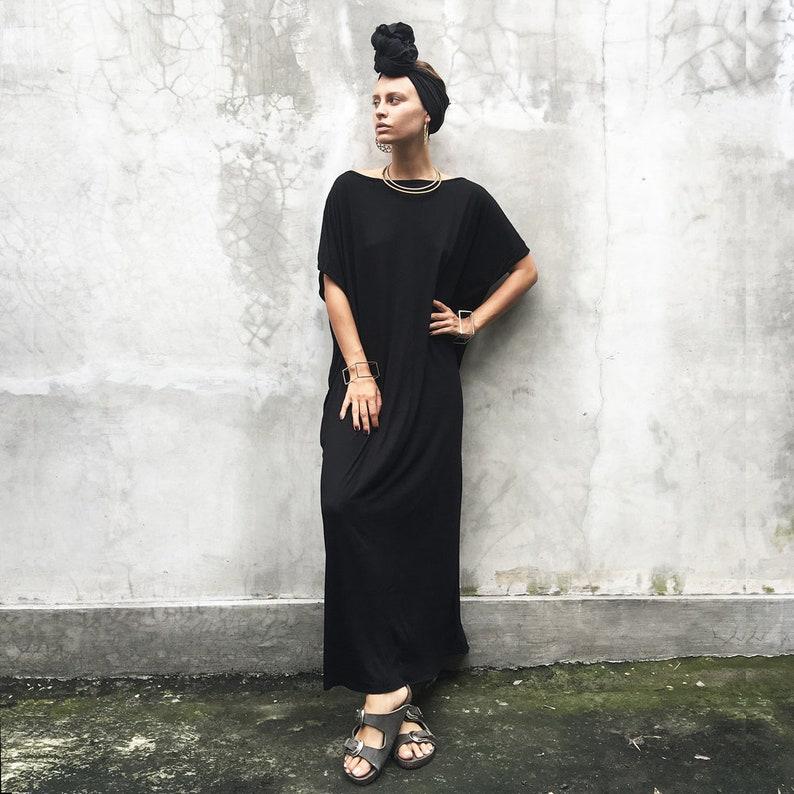 e48a0ed1ca46 Black Kaftan Dress Beach Kaftan Maxi Dress Boho Dress | Etsy