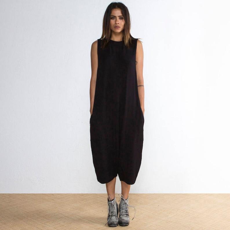 d5e3199824 Black Onesie Black Romper Jumpsuit Black Low Crotch