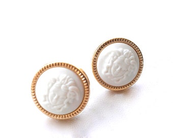 Grecian Medusa Head Studs. FAST Shipping w/Tracking for US Buyers. Purchase will arrive in Gift Box w/Ribbon. The PERFECT Gift.