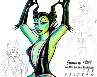 Maleficent Tattoo Etsy