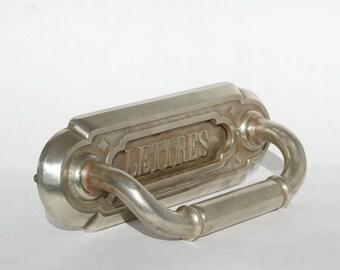 Brass mail slot door, Antique letter slot, Mailbox sign, Housewarming gift idea