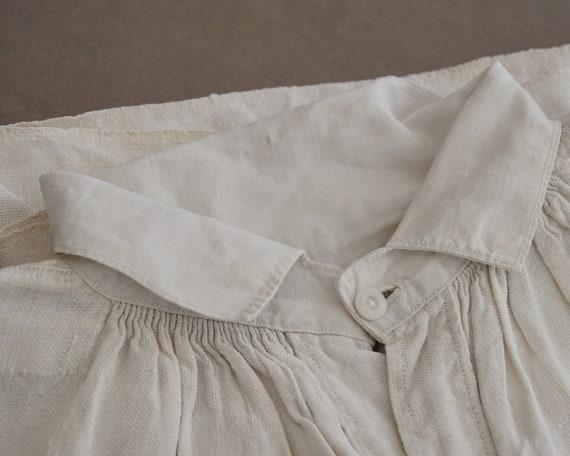 Antique large linen shirt, Artist smock for paint… - image 5