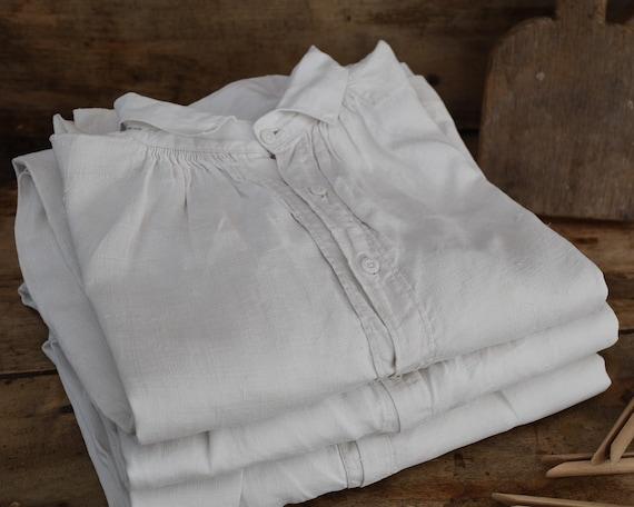 Antique large linen shirt, Artist smock for paint… - image 1