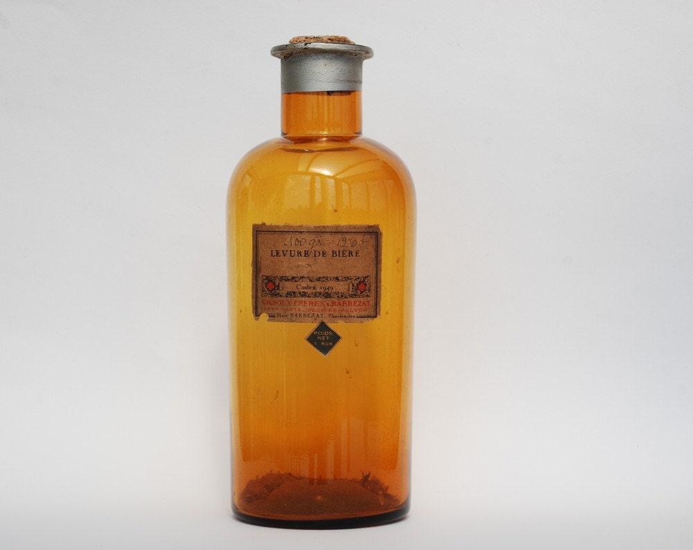 ancienne grande bouteille d 39 apothicaire en verre de etsy