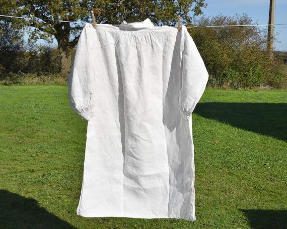 Antique large linen shirt, Artist smock for paint… - image 3